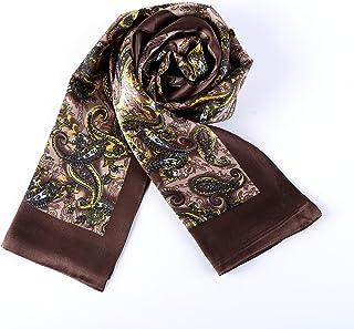 Long Charmeuse Satin Silk Scarf for Men