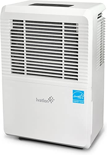 high quality Ivation 4,500 Sq Ft Large-Capacity sale Energy Star popular Dehumidifier - Includes Humidistat, Hose Connector, Auto Shutoff/Restart, Casters & Air Filter online