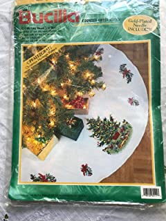 bucilla christmas village tree skirt
