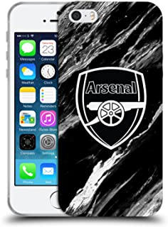 Official Arsenal FC Marble 2017/18 Crest Patterns Soft Gel Case Compatible for iPhone 5 iPhone 5s iPhone SE