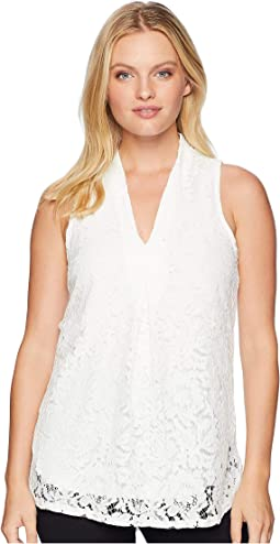 Deep V-Neck Sleeveless