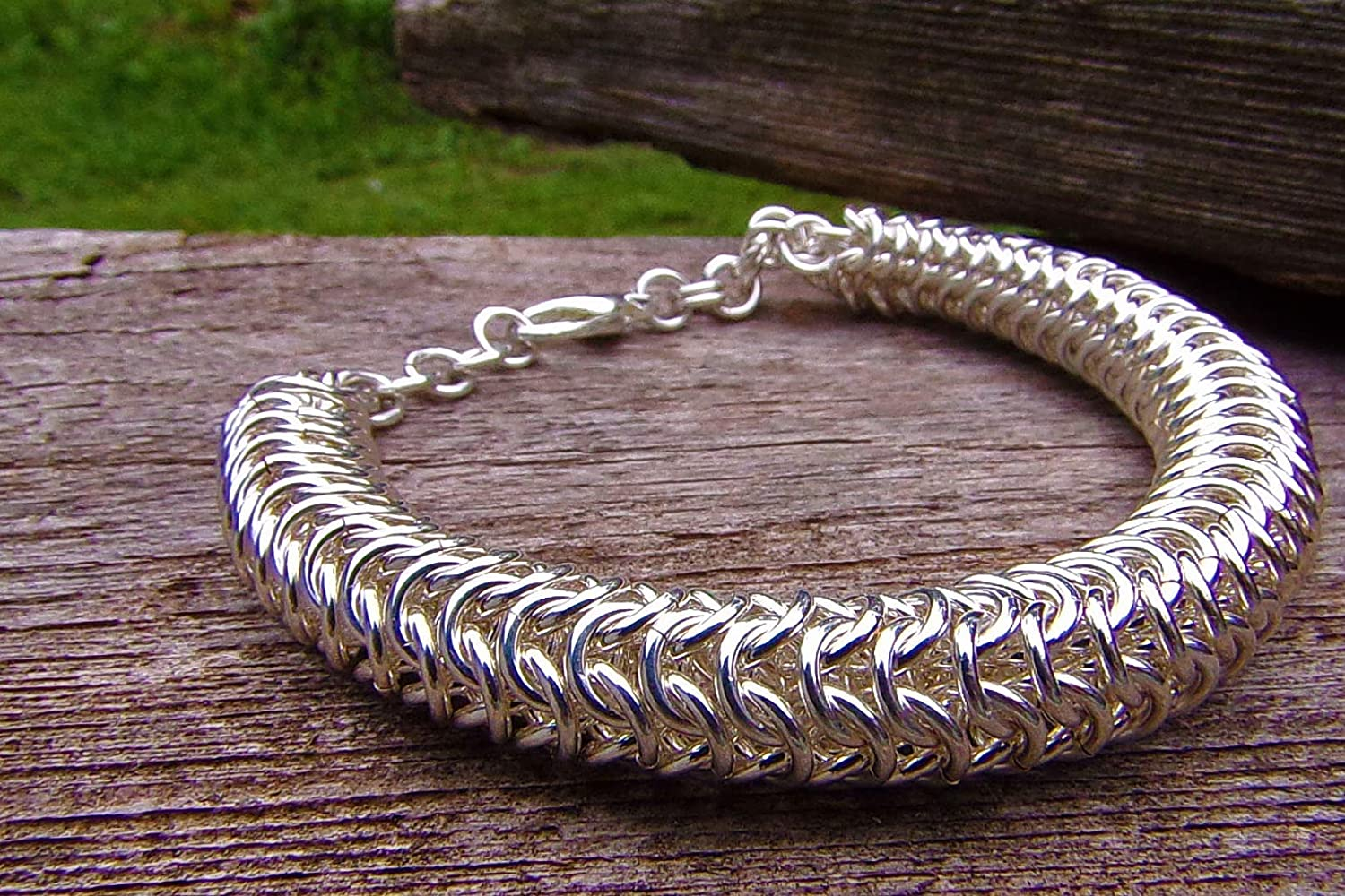 Sterling Popular product Silver security Chainmail Bracelet