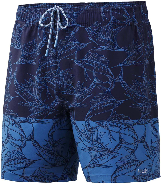 HUK Men's Playa Quick-Drying Fishing Swimming Shorts Lowest price 40% OFF Cheap Sale challenge +UPF 30