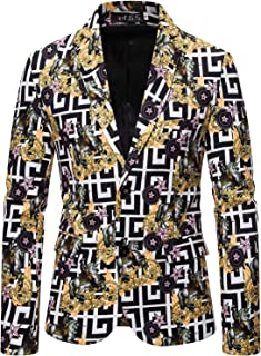 Men's Paisley Gold Balzers Luxury Design Palace Printed Casual Dress Suits for Party Wedding