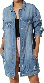 Juniors Vintage Distressed Dark Washed Slim Fit Cropped Denim Jacket