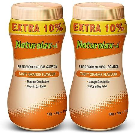 Naturolax-A Isabgol Husk Powder, Orange, 100 + 10 gms, Pack of 2