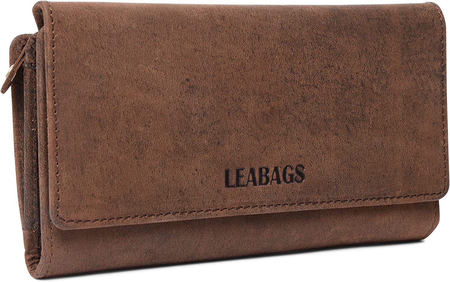 LEABAGS Cleveland Genuine Buffalo Leather Womens Wallet  Muskat