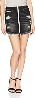 Women's High Rise Skirt with Zip Front