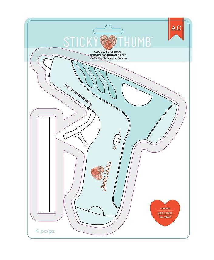 American Crafts Sticky Thumb Cordless Hot Glue Gun with Three Sticks