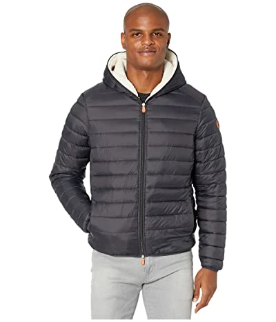 Save the Duck Giga 9 Hoodie Puffer Jacket with Sherpa Lining (Black) Men