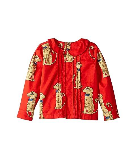 mini rodini Spaniels Woven Pleat Blouse (Infant/Toddler/Little Kids/Big Kids)