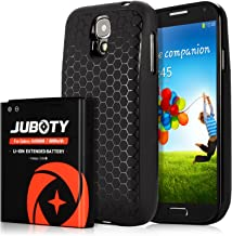 Galaxy S4 Battery, JUBOTY 6000mAh Replacement Li-ion S4 Extended Battery and Black Back..