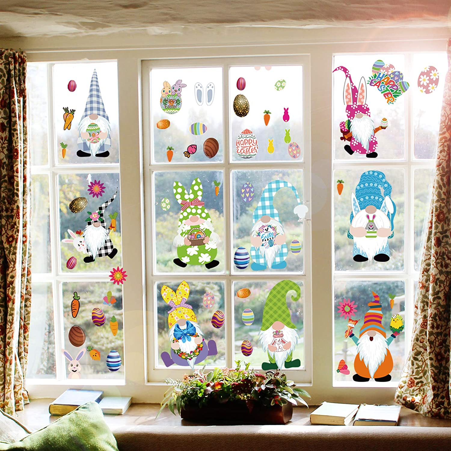 Easter Window Clings Decorations Atlanta Bargain sale Mall Stickers 9 Decal Sheets