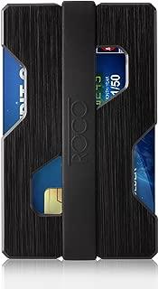 MINIMALIST Aluminum Slim Wallet RFID BLOCKING Money Clip - Futuristic Design