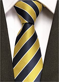 b58851cffc44 Secdtie Men's Classic Stripe Jacquard Woven Silk Tie Formal Party Suit  Necktie