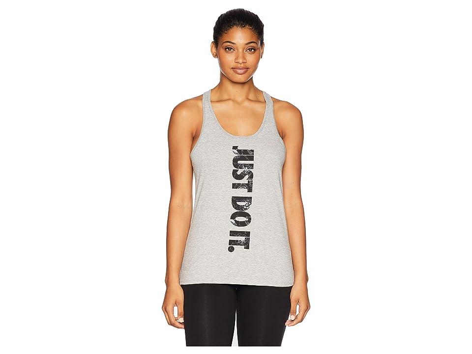 Nike Dri-Fittm Cotton Just Do It Dry Tank Top (Dark Grey Heather) Women