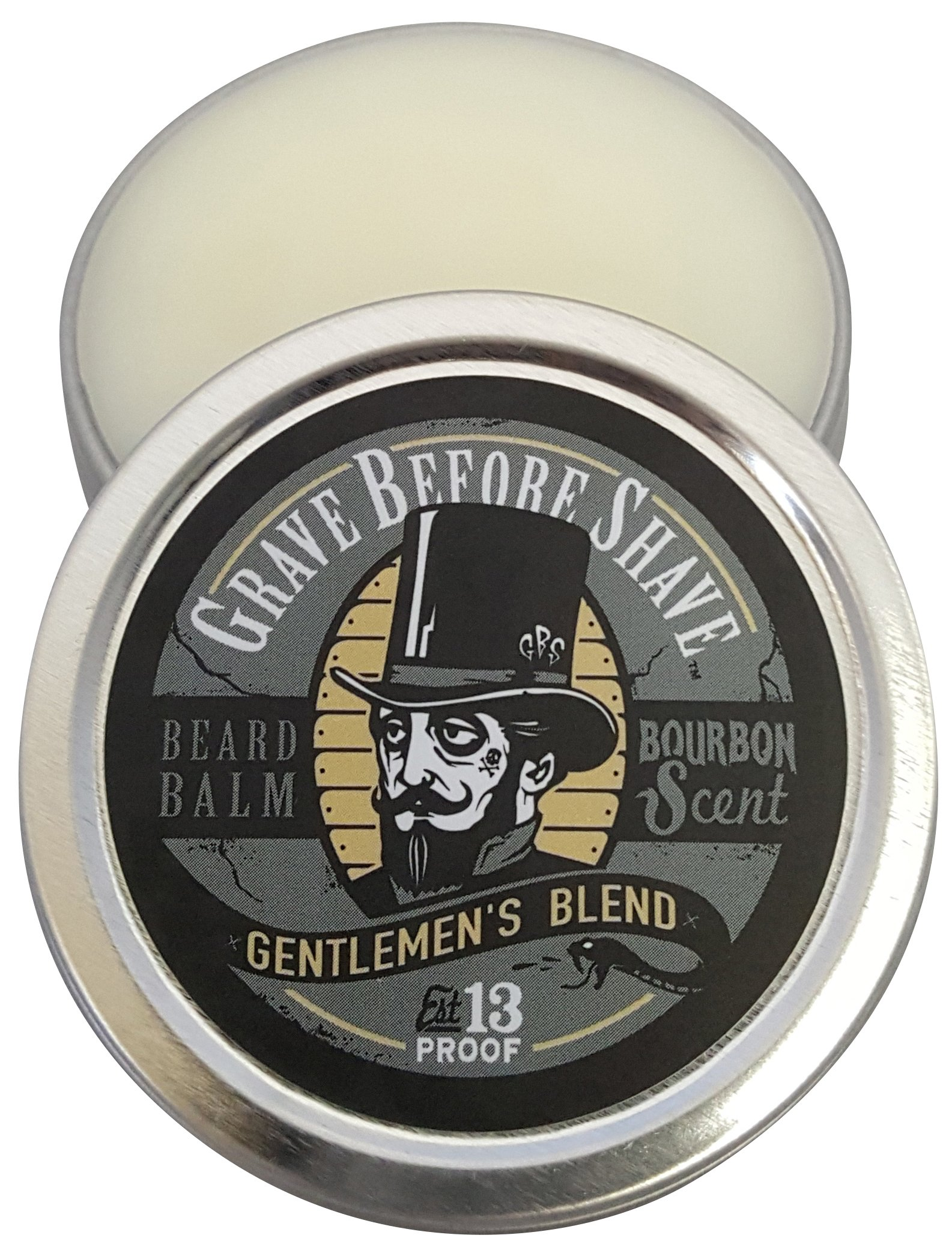 GRAVE BEFORE SHAVE Gentlemen's Blend Beard Balm (Bourbon Scent) (4 oz.)
