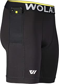"""North Moore Compression Shorts - 9"""" Inseam - Compact Sports Activewear - Made in America"""