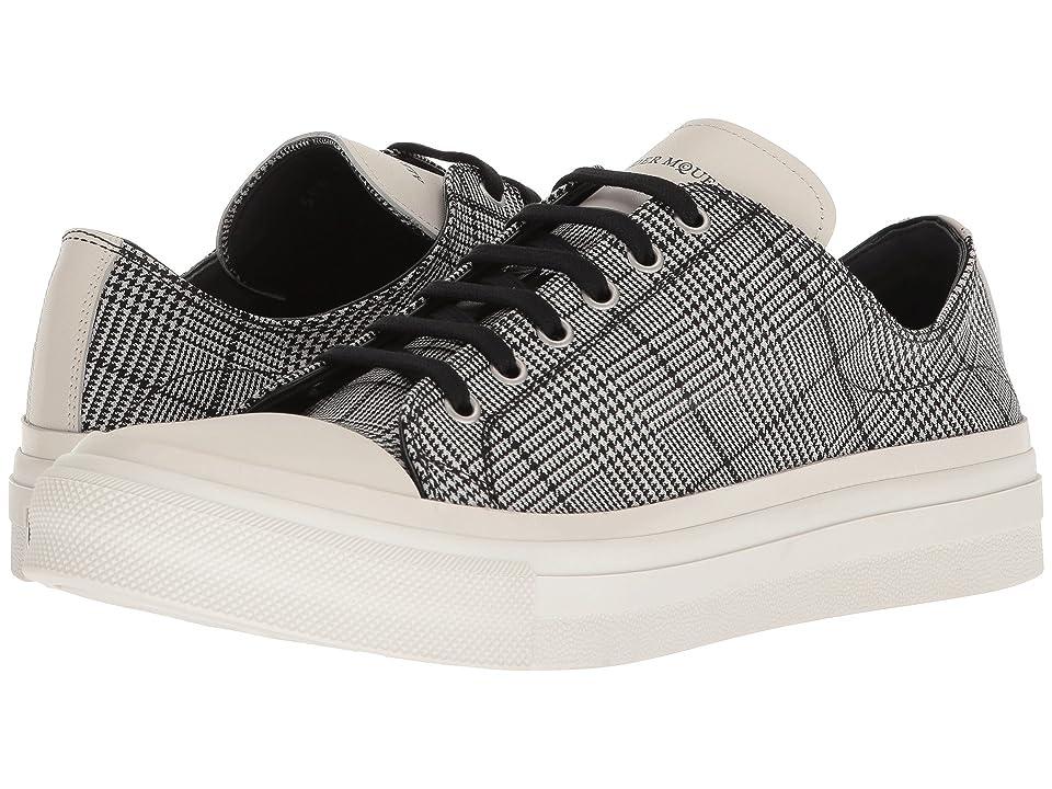 Alexander McQueen Plaid Sneaker (White/Black) Men