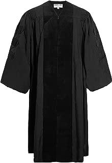 Deluxe Doctoral Graduation Gown Black