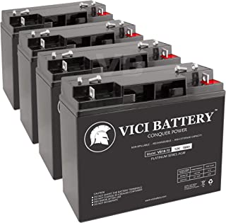 VICI Battery VB18-12 - 12V 18AH Replacement for TaoTao ATE-501 Electric Scooter Battery Set - 4 Pack