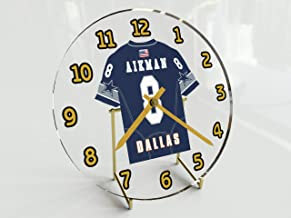 Troy Aikman 8 Dallas Cowboys Desktop Clock - National Football League Legends Edition !! Navy Blue
