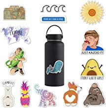 RipDesigns - 14 Cute VSCO Stickers for Water Bottles, Laptops (Series 1)