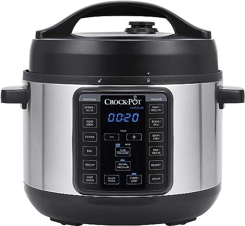 popular Crock-pot 4-Quart online sale Multi-Use Mini Express Crock Programmable popular Slow Cooker with Manual Pressure, Boil & Simmer, 4QT, Stainless Steel sale