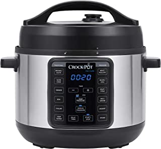 Crock-pot SCCPPC400-V1 4-Quart Multi-Use MINI Express Crock Programmable Slow Cooker with Manual Pressure, Boil & Simmer, 4QT, Stainless Steel