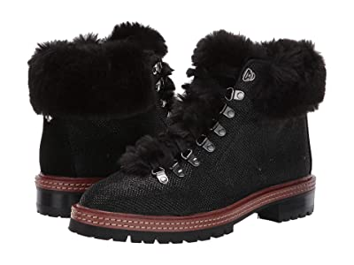 Kate Spade New York Rosalie Boot (Black Faux Fur/Suede) Women
