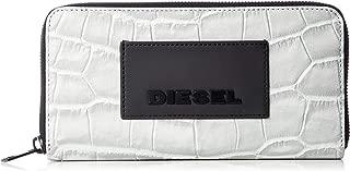 (ディーゼル) DIESEL メンズ ウォレット クロコ型押しレザー ジップ付き 長財布 X06303P2680