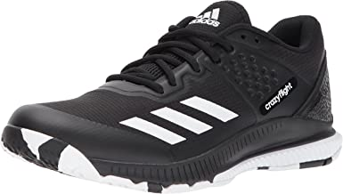 adidas Women's Crazyflight Bounce W Volleyball-Shoes, Mystery Ink/White/Ice Blue, 9 Medium US