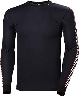 LIFA Dry Stripe Crew Thermal Baselayer Camiseta Deportiva Manga Larga, Hombre