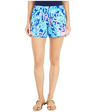 Lilly Pulitzer Ocean Trail Shorts (Corsica Blue Turtle Villa) Women