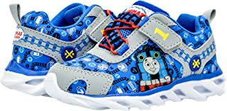 Kids Toddler Boys Thomas The Tank Engine Light Up Sneakers Blue (See More Sizes)