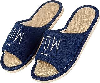 DRUNKEN Slipper Flip Flops House Slides Home Carpet Blue Sandals