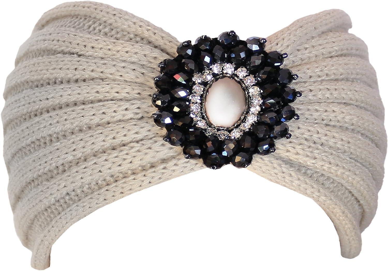 KMystic Crochet Jewel Winter Headband Ear Warmer