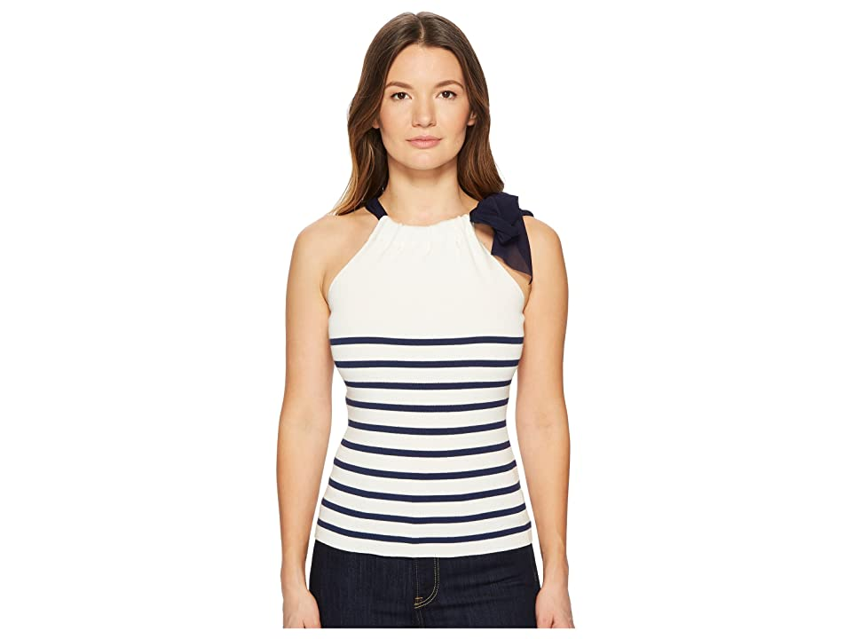 FUZZI Stripe Knit Tank Top Sweater (Panna) Women