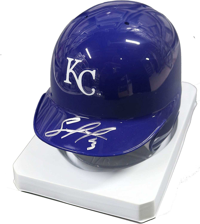 Salvador Perez Kansas City Royals Battin latest Autographed Mini OFFicial store Signed