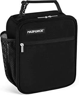 MAZFORCE Original Lunch Bag Insulated Lunch Box - Tough & Spacious Adult Lunchbox to Seize Your Day (Black- Lunch Bags Designed in California for Men, Adults, Women)