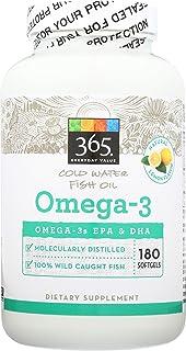 365 Everyday Value, Omega-3, Lemon Flavor, 180 ct