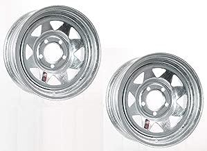2-Pack Trailer Wheel Galvanized Rims 15 x 6 Spoke Style 5 Lug On 4.5 Steel