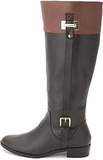 Karen Scott Womens Deliee Round Toe Knee High Riding Boots Black/Cognac Size 5 M US