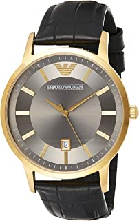 Emporio Armani Men's Quartz Stainless Steel Casual Watch, (Ar11049), Black Band, Analog Display