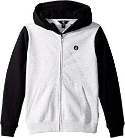 Volcom Kids - Single Stone Color Block Zip Hoodie (Big Kids)