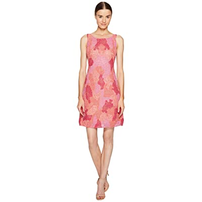 Marchesa Notte All Over Embroidered Cocktail Dress (Fuchsia) Women