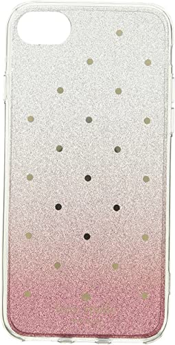 Glitter Ombre Dot Phone Case for iPhone 8