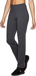 Active Women's Full Length Tummy Control Workout Bootcut Yoga Pants