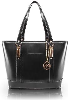 McKlein, M Series, Arya, Top Grain Cowhide Leather, Leather Ladies' Tote with Tablet Pocket, Black (97715)