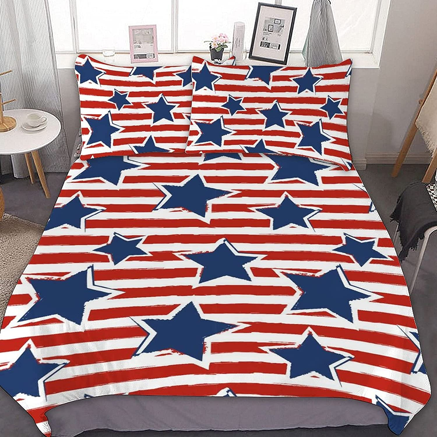 PNNUO US Stars Stripes Queen Bed Twin Comfort Size Excellence Set quality assurance King Full